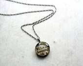 name necklace in recycled silver--personalized