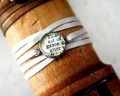 leather wrap bracelet - grace