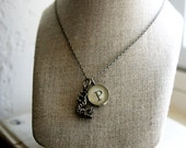 dragon necklace with initial
