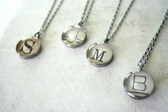 alphabet necklace--customizable