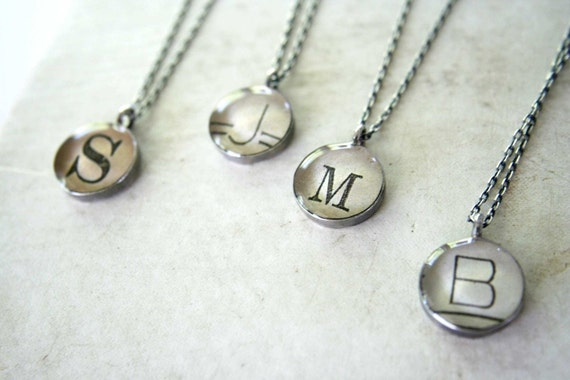 personalized necklace, monogram necklace, initial necklace, charm necklace, mom necklace