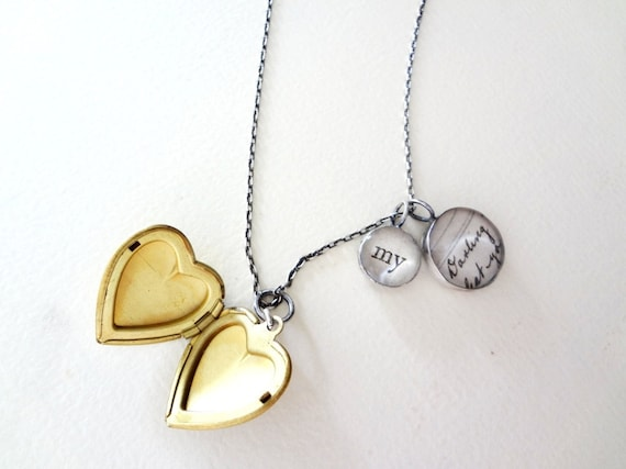 my darling locket necklace in recycled silver
