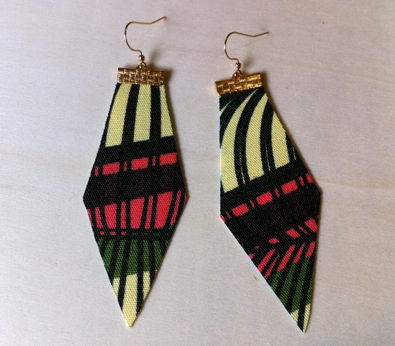 These lines cry every night for you Fabric earrings