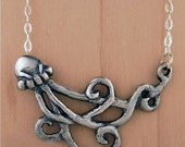 Sterling Silver Octopussi Necklace