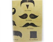 Passport Cover - Mustache Identification Guide - fits US passports holder