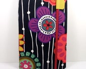 Kindle Keyboard cover - Mod Blossoms floral - hard sided kindle 3 cover - ready to ship