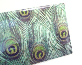 Checkbook Cover - Peacock Feathers