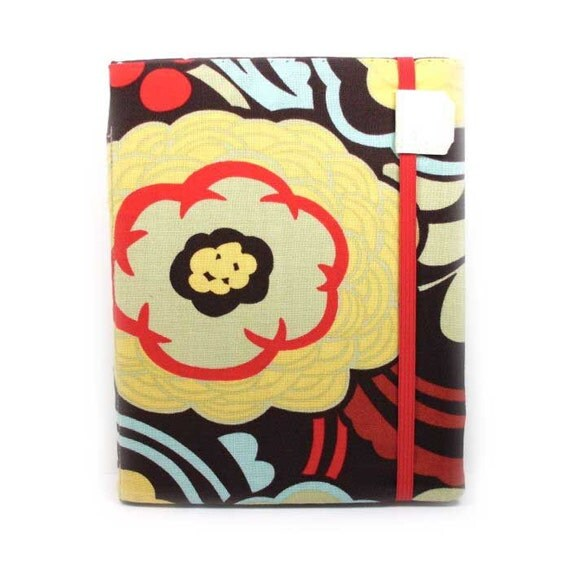 Nook Simple Touch Cover - Mocca Floral - hard sided - fits Nook Glow Light