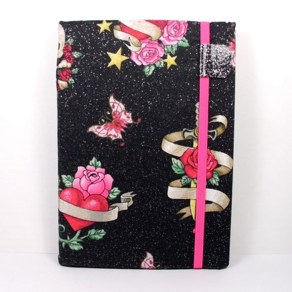 Kindle Touch Cover - Cute Skull Tattoos - hard kindle cover - ready to ship