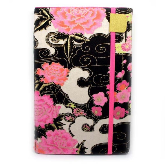 Nook Cover -  fits Color, Tablet, or Original Nook eReaders - Asian floral - hard sided ready to ship