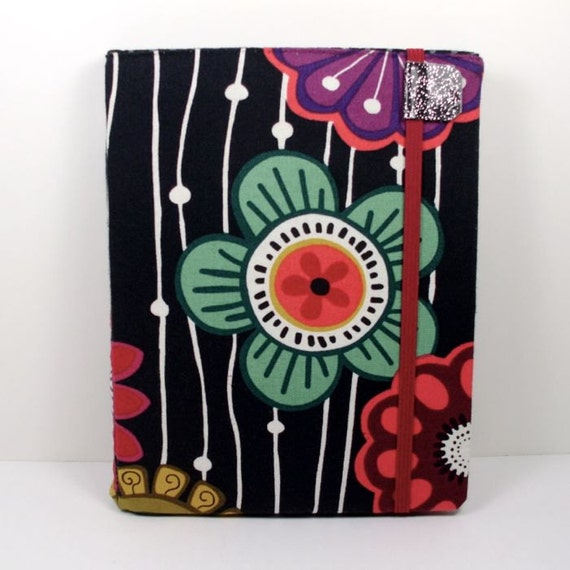 cute Nook Touch Cover - Mod Tribal Floral - hard sided - fits Nook Glow Light - ready to ship
