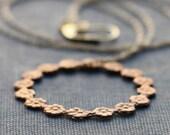 Fleur Garland Simple Brass Hoop Necklace