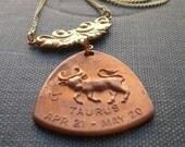 The Bull Taurus Horoscope Zodiac Astrology Necklace