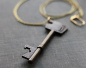 Skeleton Key  Brass Bottle Opener Necklace - contrary