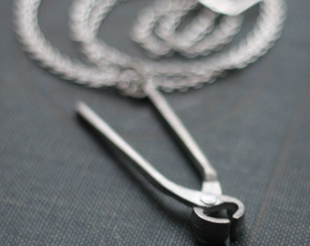 Pliers Hardware Handyman Tool Necklace