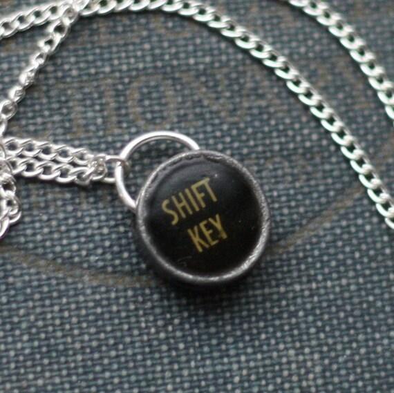 Shift Key Vintage Typewriter Steampunk Necklace