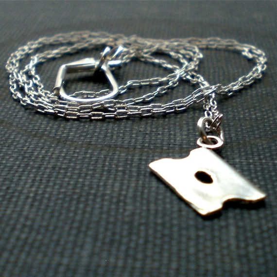 Cutting Edge Silver Razor Blade Necklace