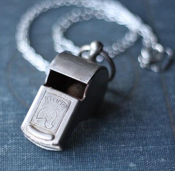 Antique Efficio Roman Armor Police Style Vintage Authentic Silver Necklace