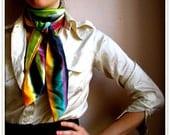 SALE Watercolor Silk Scarf