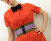 Jane Corset Belt / Green and Lilac // Deadstock Vintage Elastic