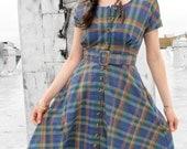 VTG 1980's Plaid Cowgirl Dress // Size 6