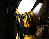 SAMPLE SALE Goldenrod Rococo Dress