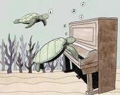 The Sunken Piano print