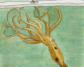 A Rigid Search- squid print