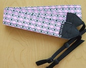 camera strap - pink and black oval star foulard