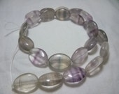 1 strand fluorite oval beads