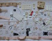 lingerie findings, buckles, garters, hook and eyes, rings, closures