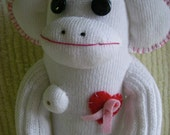 Breast Cancer Awareness Sock Monkey, no.5\/100