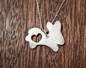 Bunny love Silver Bunny Necklace, Bunny Jewelry, Easter Gift, Animal Jewelry Animal Necklace, Rabbit Necklace, Rabbit Jewelry, Bunny Pendant