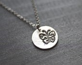 butterfly necklace - butterfly charm - butterfly pendant - silver butterfly necklace - silver butterfly necklace