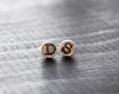 Personalized Initial Stud Earrings - Hand Stamped Initial Earrings in Sterling Silver Letter Earrings Initial Stud Earrings