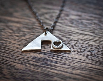 i heart camping silver camping necklace love camping necklace tent necklace