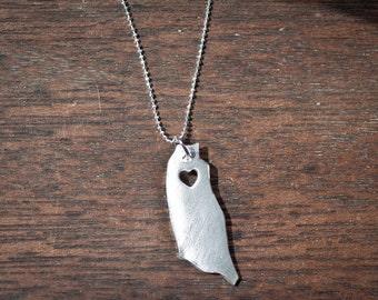 i heart Taiwan Necklace Taiwan Necklace - Sterling Silver Necklace - Taiwan Charm - Map Necklace - I heart Taiwan - I love Taiwan