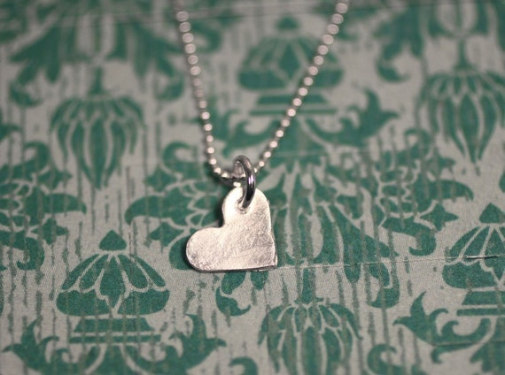 Tiny Heart Necklace, Tiny Heart Charm, Sterling Silver Necklace, Everyday Necklace, Minimal Necklace, Feminine Necklace