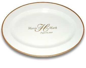 Custom Monogram Wedding Signature Platter