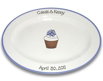 Cupcake Wedding Guest Signature Platter