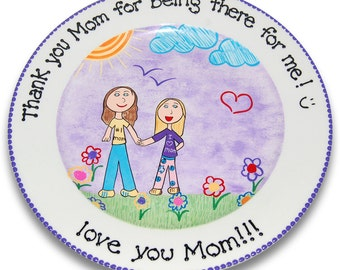 My Little Masterpiece  - Your Child's Drawing Recreated on a Personalized Plate