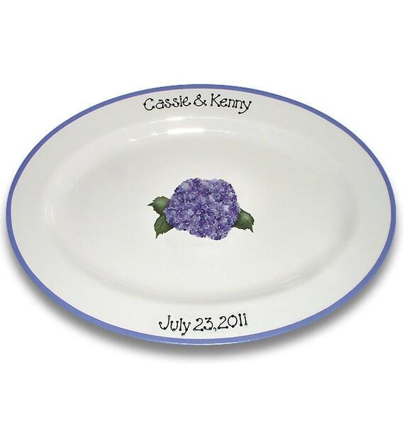 Hydrangea Bouquet Wedding Guest Signature Platter