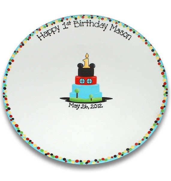 Mickey's Clubhouse Inspired 1st Birthday Signature Platter