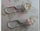 CUSTOM LISTING FOR kjjenkins - Swarovski Crystal Acorn Earrings and Necklace Sets
