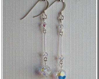 Swarovski Crystal Ball Drop Earrings