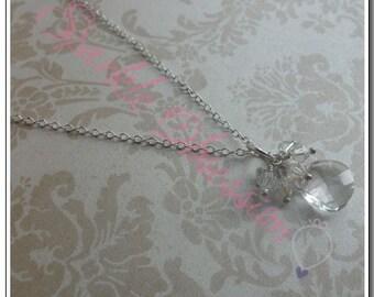 Swarovski Crystal Briolette Cluster Necklace