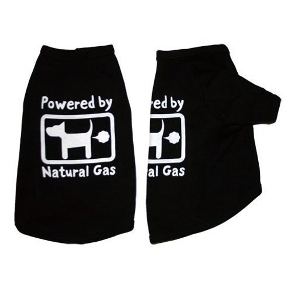 Powered by Natural Gas Dog Tee