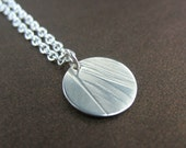 Silver Necklace, Real Nature Impression, Botanical Jewelry, Feather Necklace