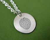 Hydrangea Necklace, Silver Hydrangea Petal Jewelry