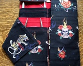 Circular Knitting Needle Organizer Bag - Tattoo